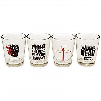 The Walking Dead 4pk Shot Glass Set