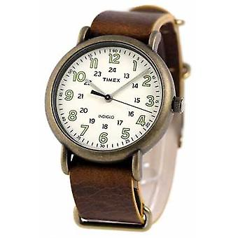 Orologio Timex Weekender Mens 40mm ottone anticato TW2P85700