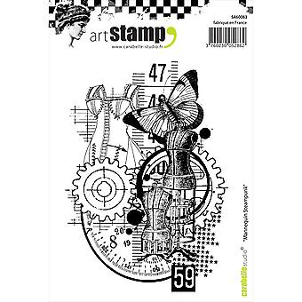 Carabelle Studio Cling Stamp A6-Steampunk Model SA60063