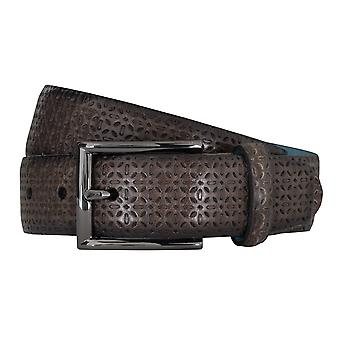 SAKLANI & FRIESE belts men's belts leather belt grey 5126