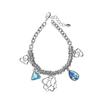 Platinum Plated Swarovski Elements Coil Bracelet, 19.5cm