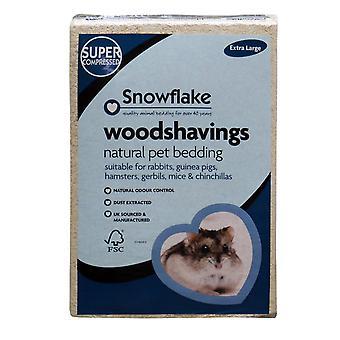 Snefnug Woodshavings - ekstra stor