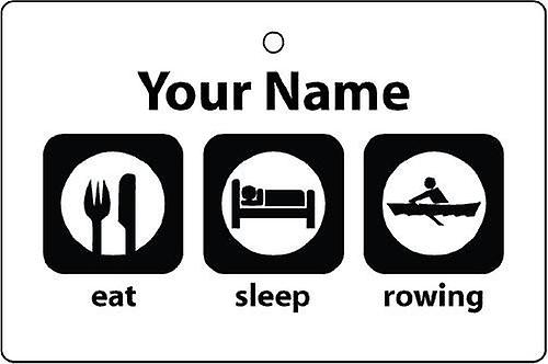 Personalised Eat Sleep Rowing Car Air Freshener