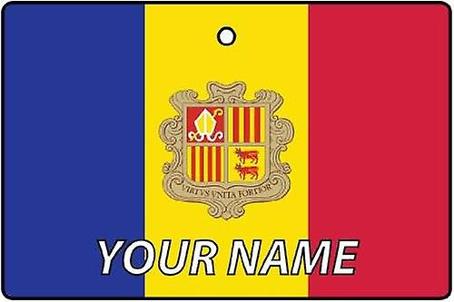 Andorra Flag Personalised Car Air Freshener