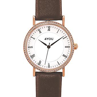 4YOU Dameur wrist watch analog quartz syntetisk læder 250007002