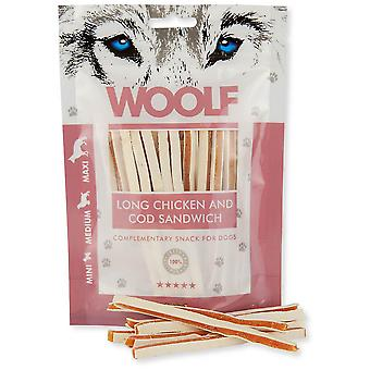 Woolf Long Chicken and Cod Sandwich (Dogs , Treats , Eco Products)