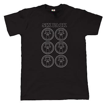 Pack de six, drôle de Mens bière T Shirt