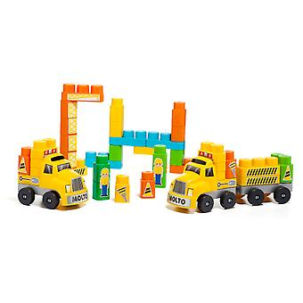Molto Blocks + 2 truck trailers (60 P. (Toys , Constructions , Vehicles)