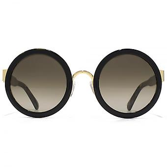 Marc Jacobs Round Sunglasses In Black On Havana