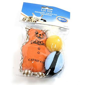Duvo+ Cat Toy Bear With Ball And Ball With Catnip (Cats , Toys , Plush & Feather Toys)