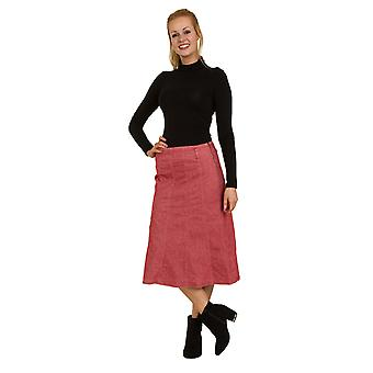Lunghezza al polpaccio con pannelli gonna rossa SKIRT92 Womens Jean gonna gonna Midi