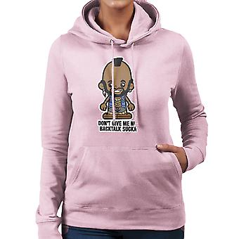 Lil Mr T ger inte mig ingen Backtalk Sucka Women's Hooded Sweatshirt