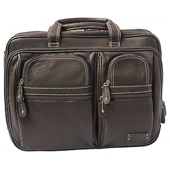 Cortez Leather Laptop Briefcase - Brown