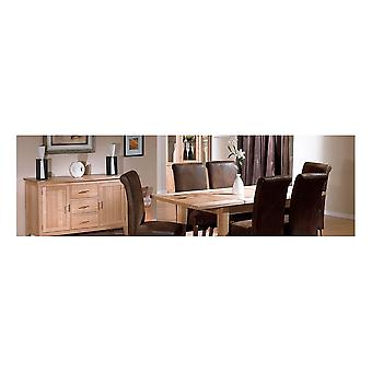 Direct Home Living Pacific Ash Small Extending Table With 4 Dining Chairs Bundle