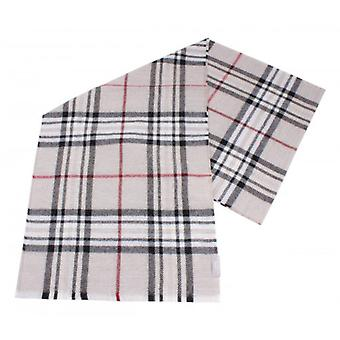 Fraas Checked Wool Scarf - Cream/Black/Red