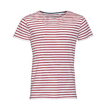 SOLS Mens Miles Striped Short Sleeve T-Shirt