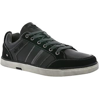 LICO Boston shoes real leather lace up sneaker black