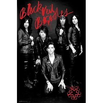 الدم عرائس الحجاب الأسود & طباعة الملصق ملصق أسود