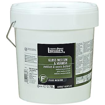 Liquitex Gloss Fluid Acrylic Medium & Varnish 1 Gallon 5036