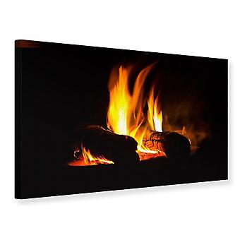 Canvas Print The Fireplace