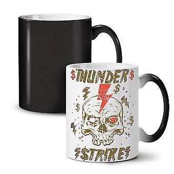 Thunder Strike Dead NEW Black Colour Changing Tea Coffee Ceramic Mug 11 oz | Wellcoda