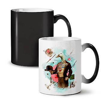 Bird Duck Goose Animal NEW Black Colour Changing Tea Coffee Ceramic Mug 11 oz | Wellcoda