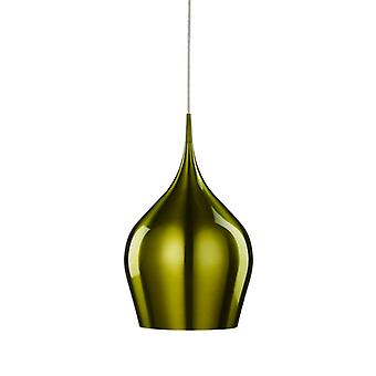 Vibrant Green Aluminium Large Single Pendant - Searchlight 6461-26gr