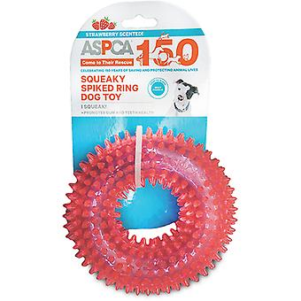 ASPCA Squeaky Spiked Ring Dog Toy-Pink AS11127-PINK