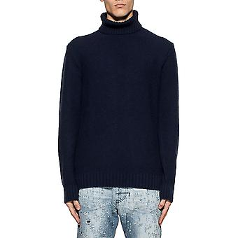 Become 5873743 mens blue wool sweater