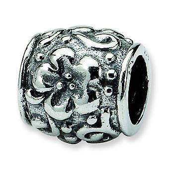Sterling Silver Reflections SimStars Floral Bead Charm