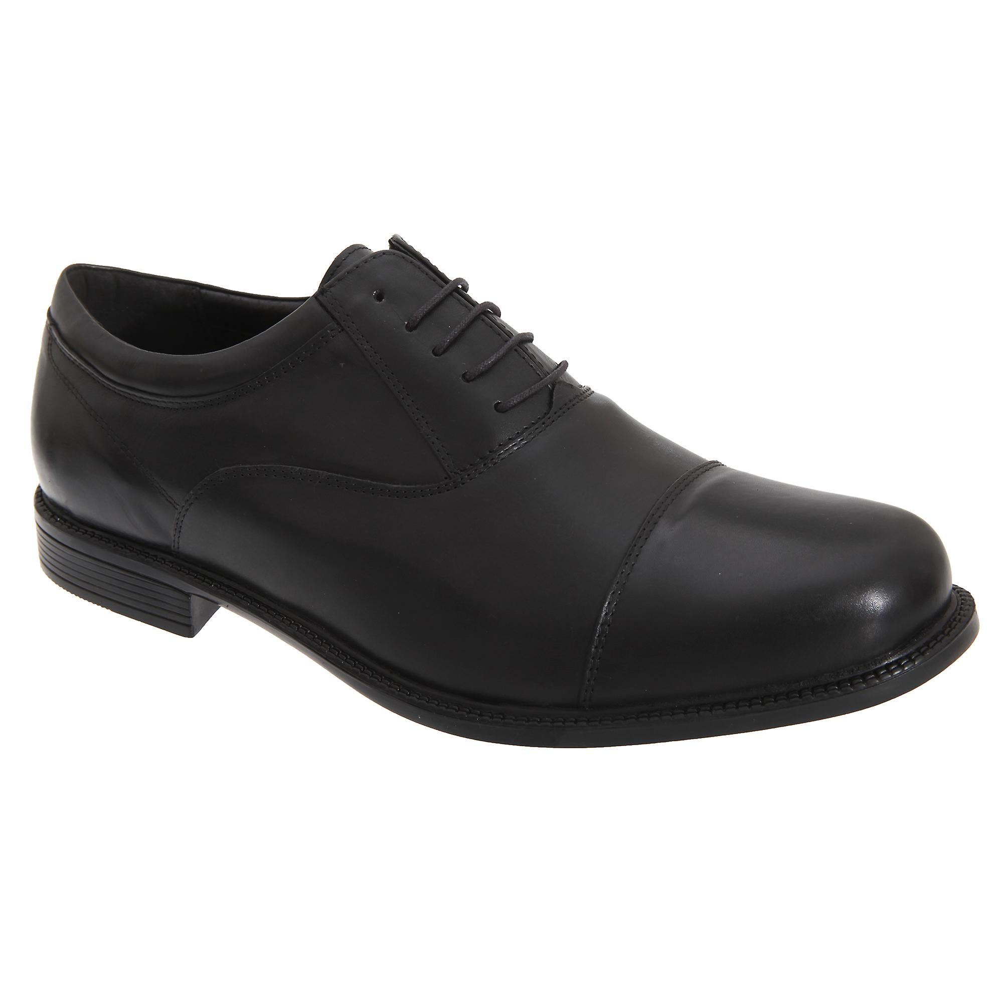 Roamers Mens Fuller Fitting Capped Leather Oxford Shoes