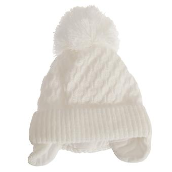 Baby Boys Crochet Winter Ear Warmer Bobble Hat