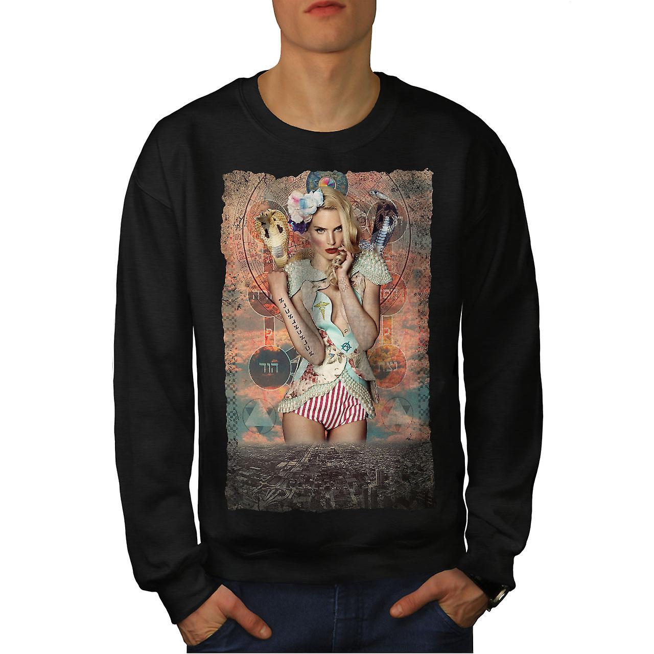 City Girl blonde chaude hommes noirSweatshirt