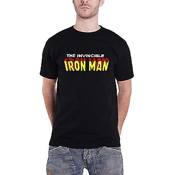 Iron Man T Shirt The Invincible Iron Man Logo Marvel Official Mens New Black