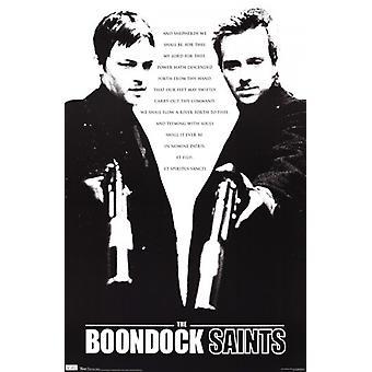 Santos del Boondock - pastores oración Poster Print
