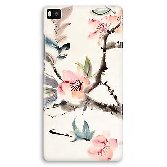 Huawei Ascend P8 Full Print Case - Japenese flowers