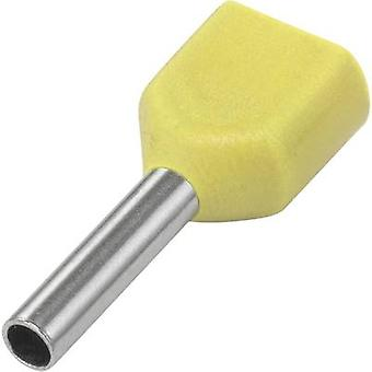 Twin ferrule 1 x 1 mm² x 8 mm Partially insulated Yellow Conrad
