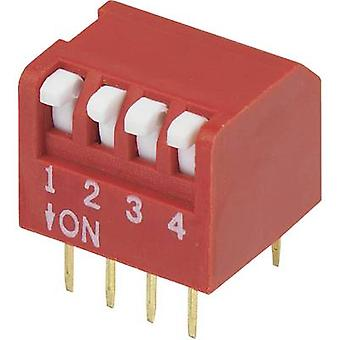 DIP switch Number of pins 4 Piano-type TRU COMPONENTS DPR-04