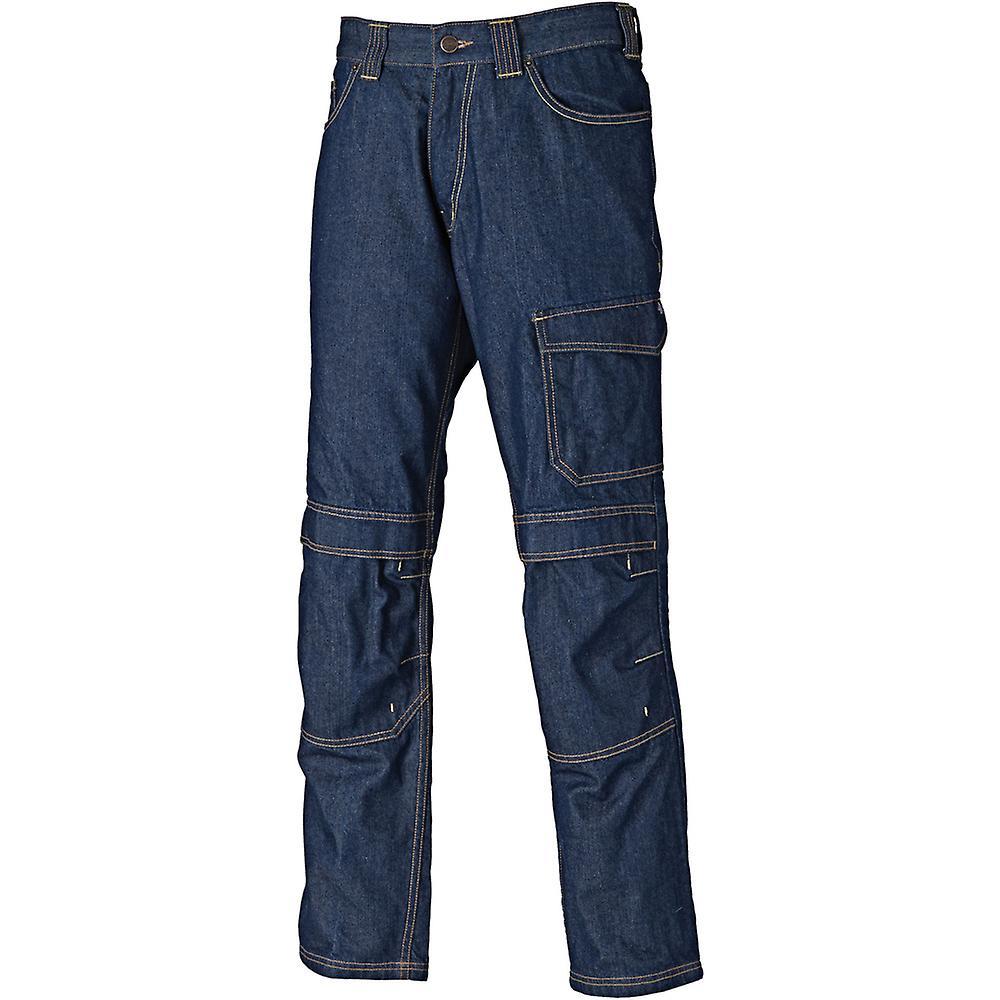 DICKIES 22 Pour des hommes Stanmore vêtehommests de travail Multi Pocket Jeans pantalon marine