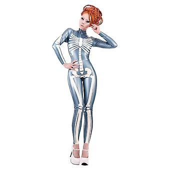 Westward Bound Palermo Skeleton Latex Rubber Catsuit PS Steel Blue