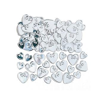 SALE -  14g Silver Loving Hearts Confetti Sequins for Crafts