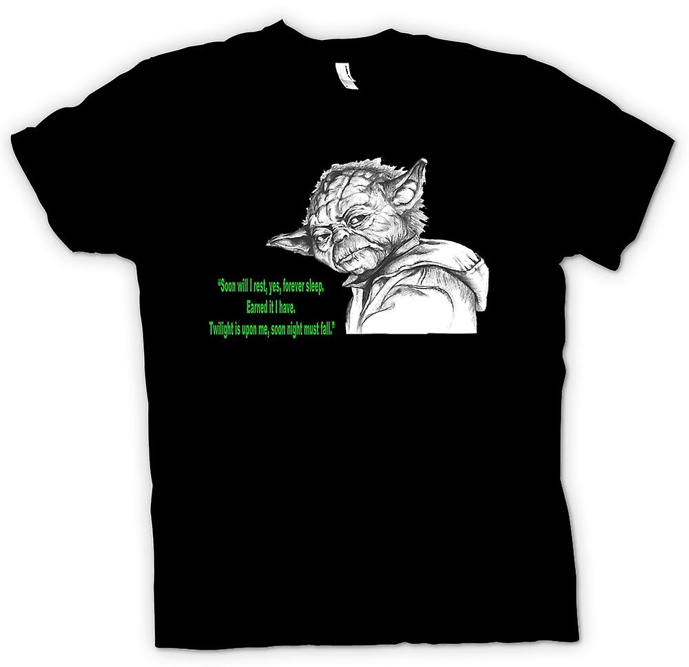 Womens T-shirt - Yoda - Sketch - Soon I Will Rest