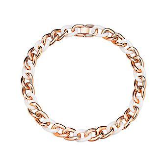 Catena di ESPRIT collezione Signore dell'acciaio inossidabile Rosé bianco CERAMIA ELNL11855C420