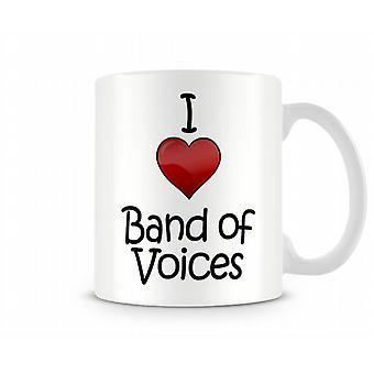 I Love Band Voices Printed Mug