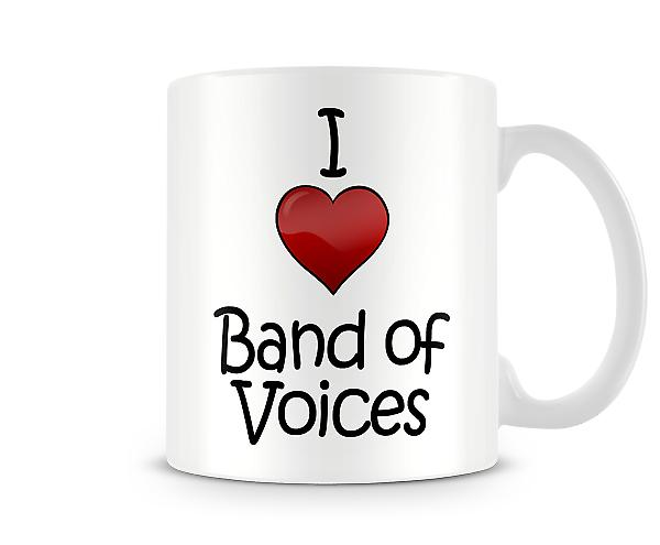 I Love Band Voices Printed Mug