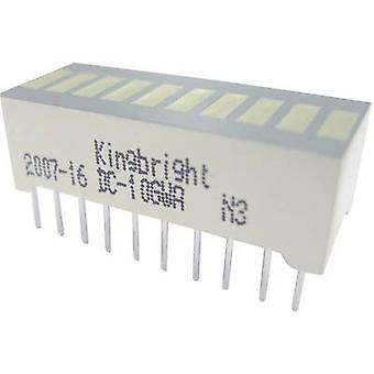 LED bargraph array 10x Yellow (W x H x D) 25.4 x 10.16 x 8 mm Ki