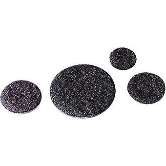 Hook-and-loop stick-on dot stick-on Loop pad (Ø) 45 mm Black Fastech T01047999903C1 1 pc(s)