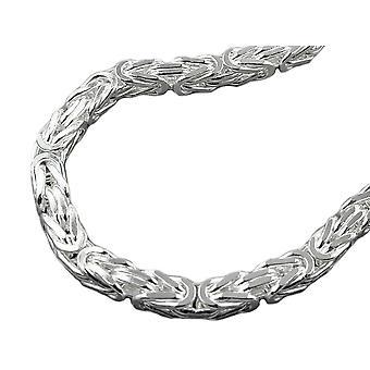 Armband 6mm koning keten plein glanzend zilver 925 21 cm