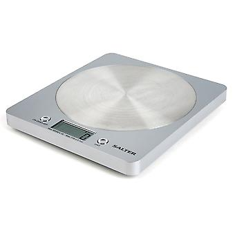 Salter 1036 SVSSDR Portable Disc Electronic Digital Kitchen Scale - Silver