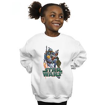 Star Wars Girls Boba Fett Fired Up Sweatshirt